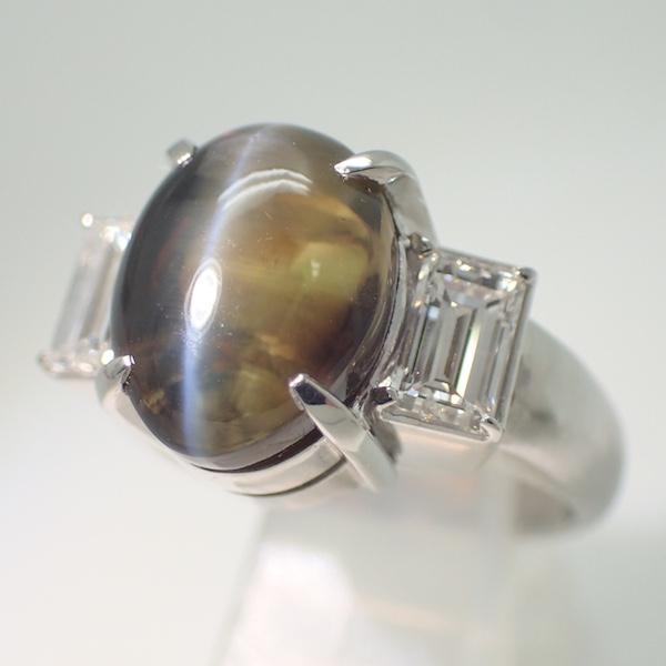 Chrysoberyl Cats eye Ring 3.54ct